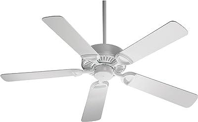 "Quorum International 43525-6 5 Blade Estate Fan, 52"", White"