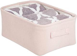 mDesign panier rangement tissu avec revêtement interne et design structuré – rangement maquillage idéal – boite de rangeme...