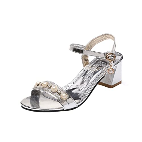 a9ef83b50d97 Lolittas Summer Silver Diamante Sandals for Women