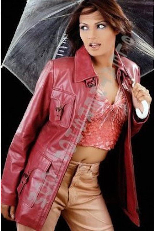 Fadcloset Ladies Valentina Pink Leather Coat
