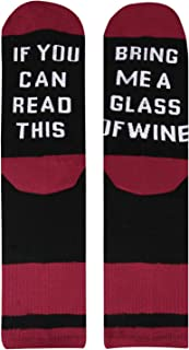 Men's If You Can Read This Crew Socks Funny Saying Beer Wine Coffee Taco Donut