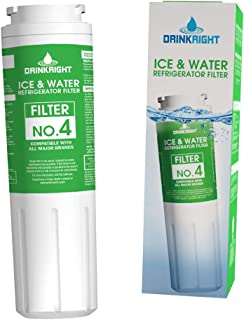 Refrigerator Water Filter Used For Replacement Of Models UKF8001, 4396395, EDR4RXD1B Found In Bottom Freezer And Side-By-Side Refrigerators Of Leading Name Brands - (1 Pack)