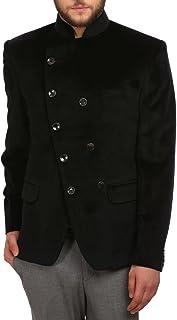 WINTAGE Men's Velvet Grandad Collar Ceremony Blazer - Four Colors