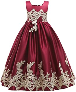 Fashion Dress for Girls, YESOT Floral Baby Girl Princess Bridesmaid Pageant Gown Birthday Embroidered Wedding Dress