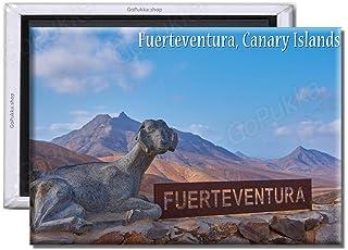 Fuerteventura Sign by Goat - Imán para Nevera, diseño de Cabra, plástico, Standard: 70x45mm