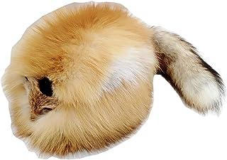 赤狐ファー 帽子 顔つき 尻尾付き