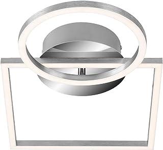Briloner Leuchten Lámpara de Techo, Regulable, Incluye función de Memoria, 1 módulo LED Giratorio, 19,6 vatios, 1500 lúmenes, 3000 Kelvin, Cromado, 424x260x75 mm (Largo x Ancho x Alto), cromo-aluminio