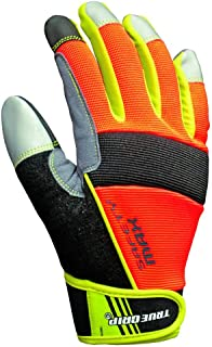 True Grip High Visibility Work Gloves and All Purpose Gloves with Touchscreen Fingers, Medium