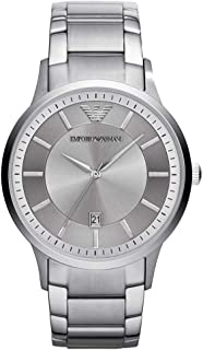 Emporio Armani Men Quartz Stainless Steel Silver with Silver Dial AR11189
