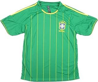 True Rock Brazil Green Pinstripe Soccer Jersey