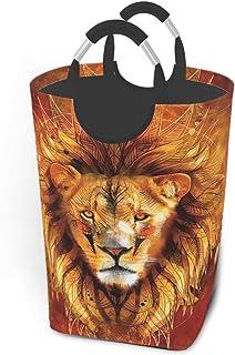 N\A Panier à Linge Lion coloré avec poignées Grand Organisateur Pliable Panier à Linge pour Chambre d'enfants vêtements Sa...