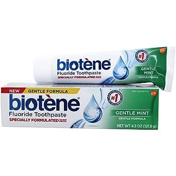 Biotene Gentle Formula Fluoride Toothpaste, Gentle Mint 4.3 oz
