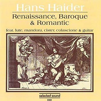 Renaissance, Baroque & Romantic