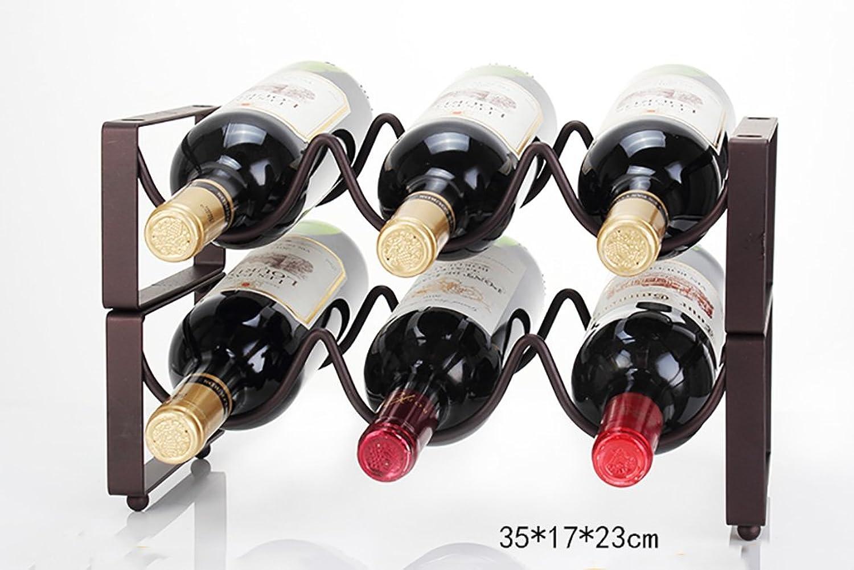 gran selección y entrega rápida Estante del vino Decoración De Racks De Vino De De De Hierro Forjado Rack De Botellas De Vino Apilable Rack De Vinos Rack De Vinos Europeo Multi-botella Cabina De Vino Creativa Soporte De Exhibición Multi-t  Centro comercial profesional integrado en línea.