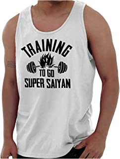 Training to Go Super Alien Ninja Nerdy Gym Tank Top