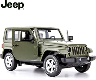 TGRCM-CZ Diecast Model Cars Toy Cars, Jeep Wrangler 1:32 Scale Alloy Pull Back Toy Car with Sound and Light Toy for Girls and Boys Kids Toys (Army Green)