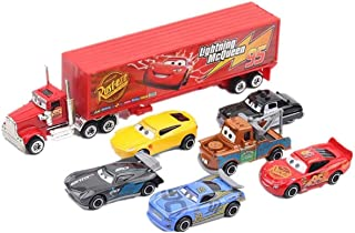 7 Pieces Cars Toy Set Deluxe Cars Toy Set Gift for Kids Birthday Gift Idea