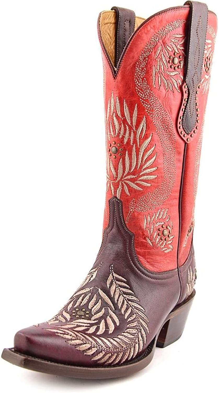 Lucchese Women's M4837.S5 Cowboy Boots - Snip Toe red