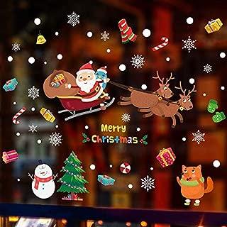 Adhesivos De Pared De Papá Noel Calcomanías De Pared De Vinilo Para Decoración De Ventanas De Dormitorio Infantil De Navidad Para Niños Pegatina De Pared Personalidad De Arte