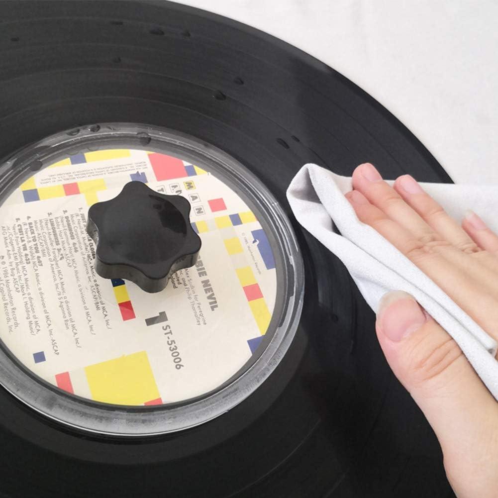 Schallplatten Reinigung Label Saver Protector Wasserdichtes Pflegezubeh/ör LP Vinyl Record Reinigungsklemme Schallplatten Reiniger Klemme Pflege Geschenke f/ür Plattenliebhaber