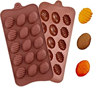Uddiee Happy Easter Egg Slicone Mold Chocolate Candy Molds for Small Chocolate Cake Decoration Baking Party Supplies