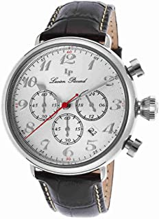 Lucien Piccard Men's LP-72415-02S Trieste Analog Display Japanese Quartz Black Watch