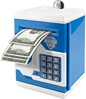 Suliper Electronic Piggy Bank Code Lock for Kids Baby Toy, Mini ATM Safe Coin Cash Banks..