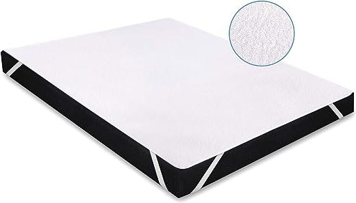 Karcore Matratzenschoner Wasserdichter Atmungsaktive Matratzenauflage, gegen Milben, Anti-Allergie Matratzenschutz (60 x 120 cm, 1er Set)