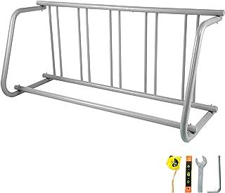 """VEVOR Floor Bike Rack 5 Holders,All-Steel Grid Bike Rack 61"""" Length,Single-Side Storage Stand,for Garages Streets Yards"""
