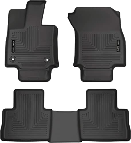 high quality Husky Liners - 95501 - Fits popular 2019-21 Toyota RAV4 Weatherbeater discount Front & 2nd Seat Floor Liners, Black outlet sale