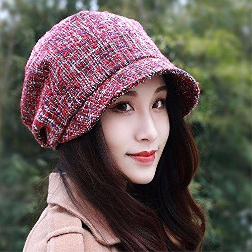 YANGFEIFEI-MZ Meisjes vallen WINTER HAT baret mode meisje hoed achthoekige pet Engels schilder cap wastafel hoed schilder cap nieuw