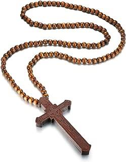 Best large crucifix necklace Reviews