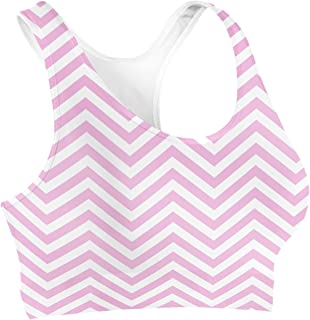 Rainbow Rules Chevron Stripes Sports Bra