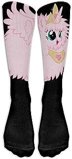 BEAUTTYY Unisex Cute Pink Princess Fluffle Puff Unicorns Tube Socks Knee High Sports