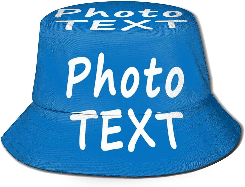 Custom 3D Print Bucket Hat for Women Men Summer Travel Beach Sun Hat Outdoor Cap Gifts Add Your Image Photo Text