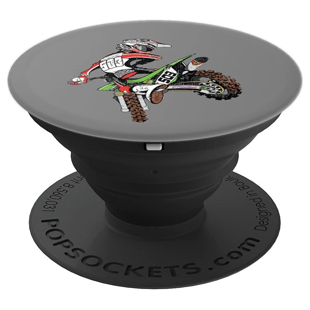 Dirt Bike Rider Motocross - PopSockets Grip and Stand for Phones and Tablets