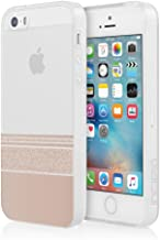 Incipio Cell Phone Case for Apple iPhone 5/5S/SE - Retail Packaging - Wesley Stripes/Rose Gold