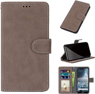 GARITANE Fodral kompatibel med LG X Cam/K580, mobiltelefonfodral fodral med magnet kortfack skyddande matt retro läderfodr...