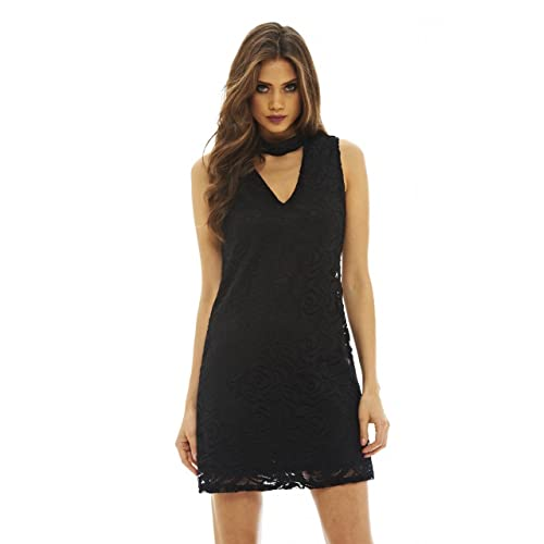 c83f104773af AX Paris Women s Choker Neck Lace Dress