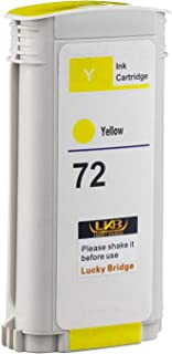 LKB 1PK Compatible HP72 Ink Cartridge Yellow Replacement 130ML Use with designjet T1100 T1200 T1100ps T1120 SD-MFP T1120ps...