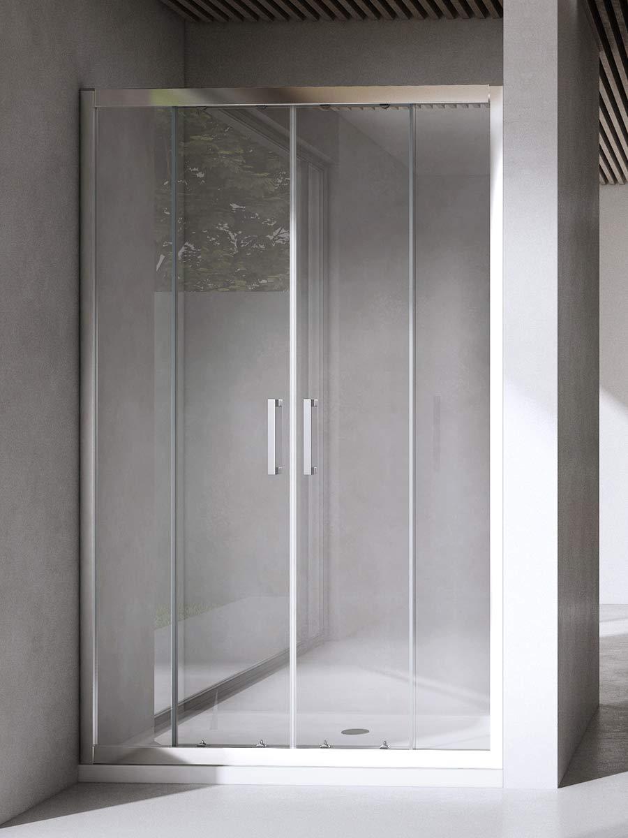 Yellowshop - Mampara de ducha con puerta corredera de vidrio ...