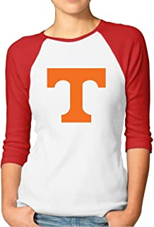 Female University Of Tennessee Logo Raglan Three-Quarter Sleeve Shirt