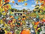 5D DIY diamante bordado gato punto de cruz granja diamante pintura venta animales otoño decoraciones A4 50x70cm