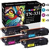 Compatible (4-Pack, BK+C+M+Y) TN-331 Toner Cartridge TN331 Used for Brother HL-L8350CDW HL-L8250CDN HL-L8350CDWT MFC-L8850CDW MFC-L8600CDW Printer, by ColorPrint