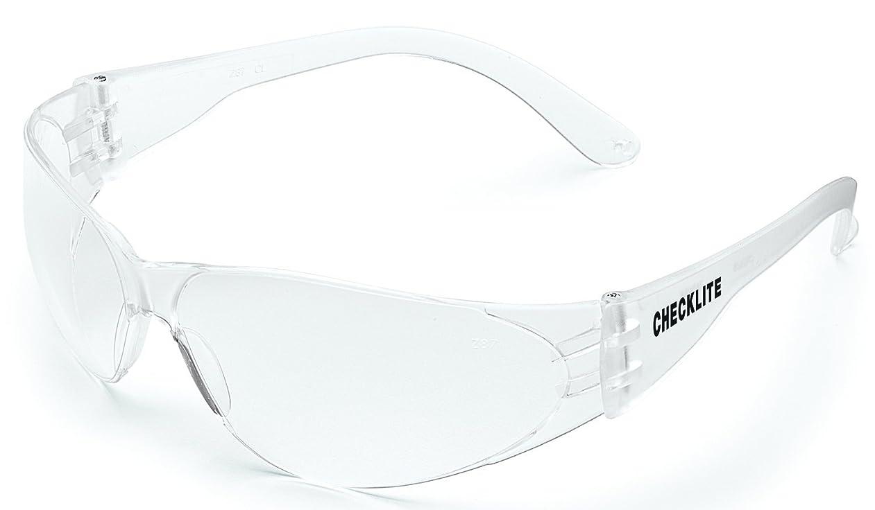 崇拝しますイル幽霊Crews Checklite Safety Glasses, Clear Frame, Clear Lens