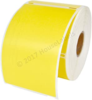 6 Rolls; 300 Labels per Roll; DYMO-Compatible 30256 Yellow Large Shipping Labels (2-5/16
