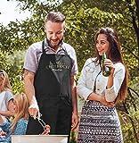 SpecialMe® Küchen-Schürze eigener Name Schriftzug Chefkoch individualisierbar Kochschürze Männer personalisierte Geschenke schwarz Unisize - 4