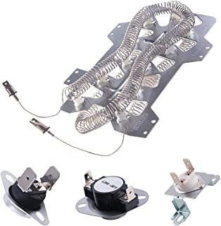 Dryer Heating Element(DC47-00019A)for Samsung, Thermal Fuse( DC96-00887A and DC47-00016A), Thermostat (DC47-00018A )Dryer Repair Kit Replacement, Figure 6 is the Compatible Model.