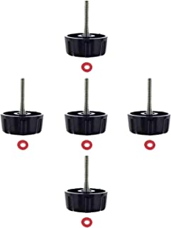 Kasteco 5 Pack Screws Nuts Caps for Fishing Spinning Reels Knob Power Handle Grip