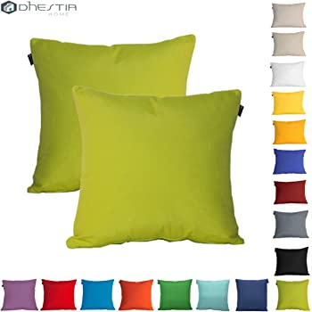 Dhestia Pack X 2 Fundas Cojines Decoración Sofá Y Cama 45X45 Cm Loneta Colores (Verde Pistacho/Pistachio Green), 45 X 45 Cm: Amazon.es: Hogar